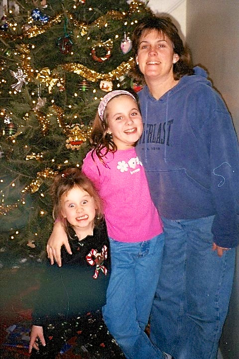 Nicole with her Mom and sister.