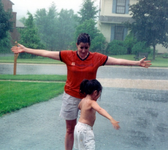 Jacki & Mom Dancing in the Rain