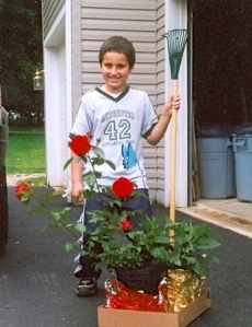 Max Ready to Plant a Garden in Honor of His Mother Who Died in 2001