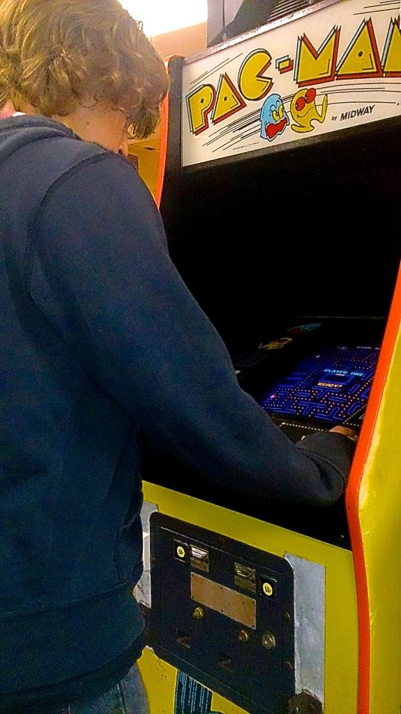 Brandon, Playing Arcade Games...All he wants.