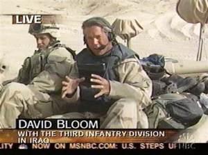David Bloom in Iraq.